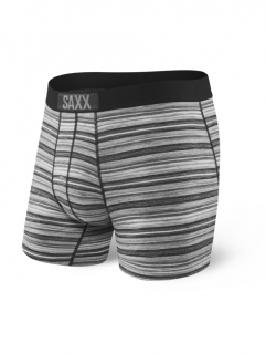 SAXX Vibe boxer charcoal heather stripe